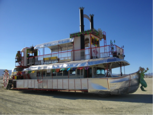 Figure 4: Art car on the Playa.  Photograph by author.