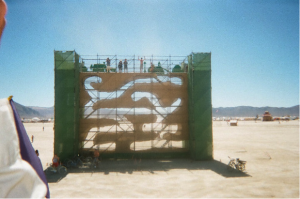 Figure 7: Human ant farm on the Playa.  Photograph by author.