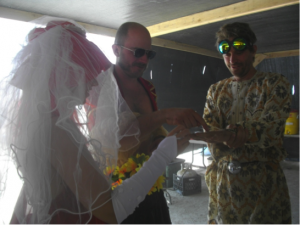 Figure 9: Wedding at the Green Tortoise camp.  Photograph by author.